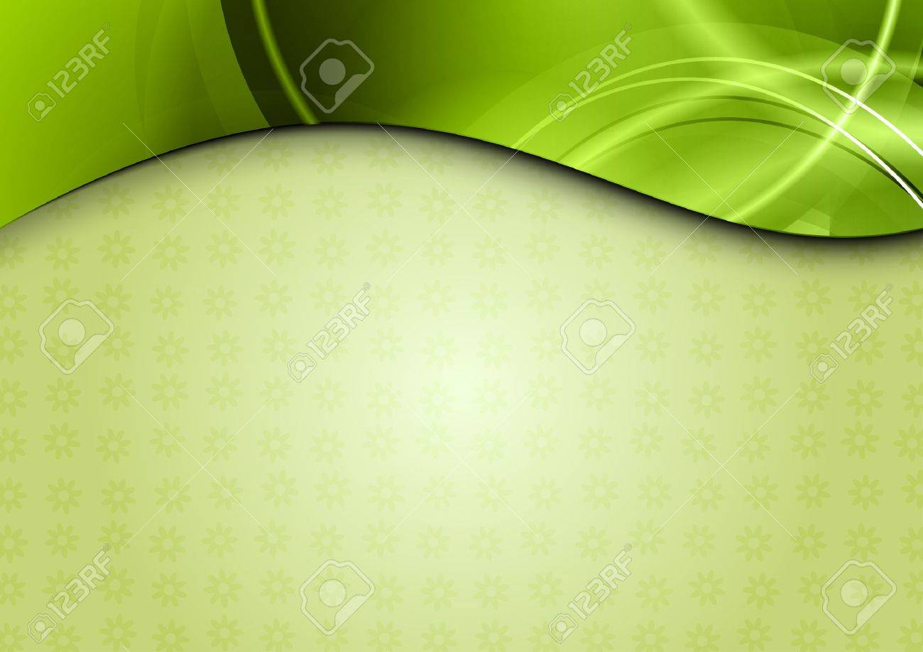 spring background in the green color Stock Vector - 12495453