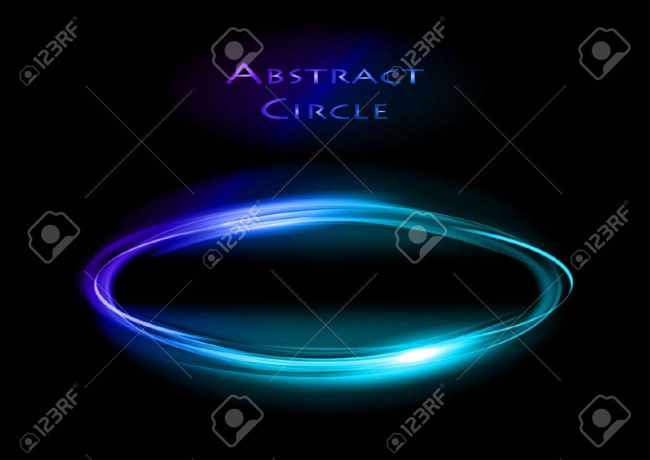 blue circle on the dark background Stock Vector - 13419394