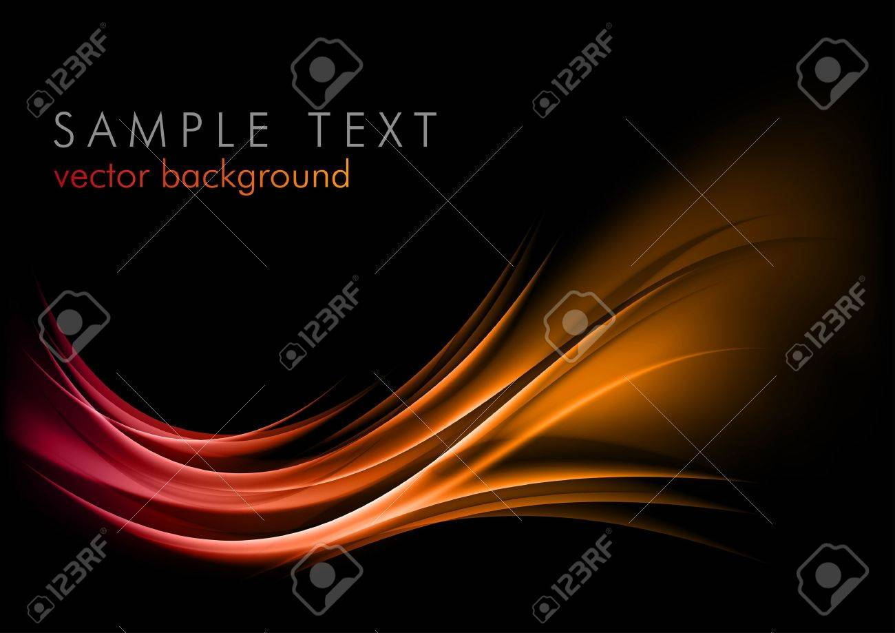 red abstract ornament on the dark background Stock Vector - 13624610