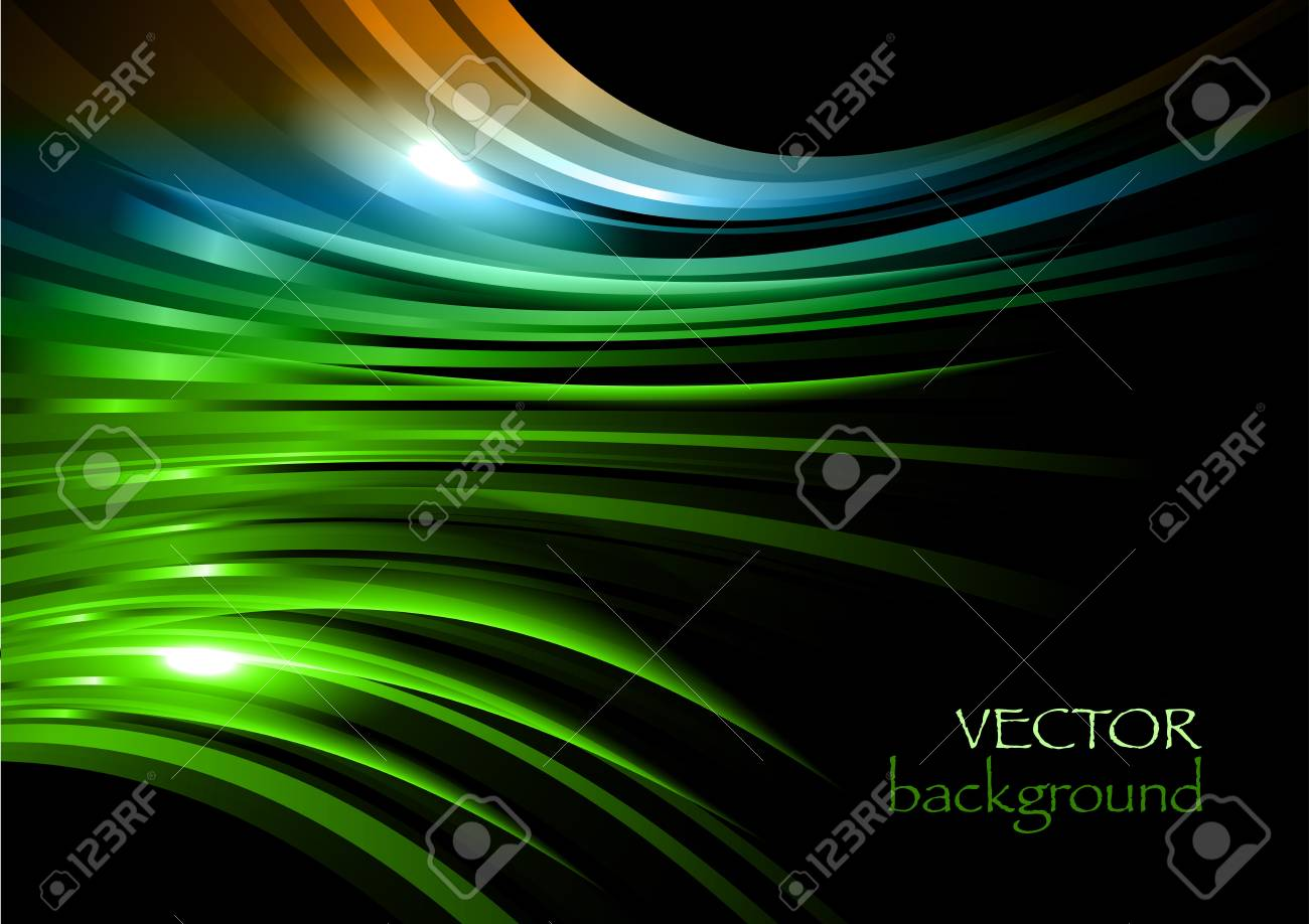 abstract rays on the black background Stock Vector - 13830018