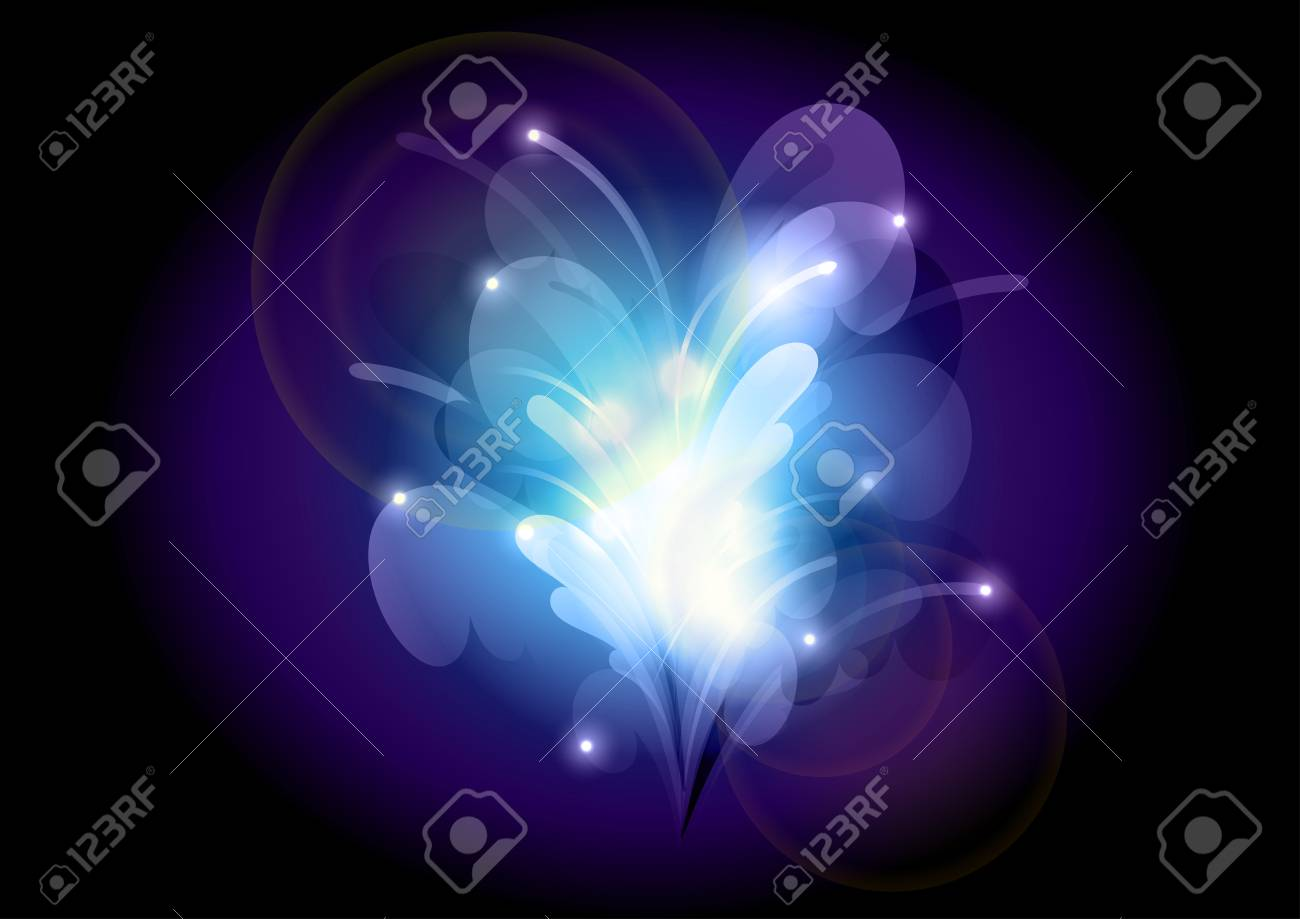 abstract background as blue shining flower Stock Vector - 14051278