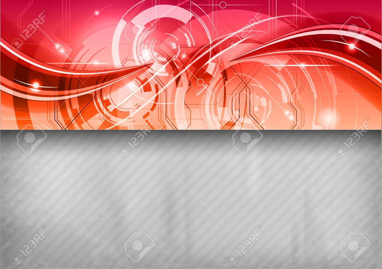grey background with red top Stock Vector - 19019865