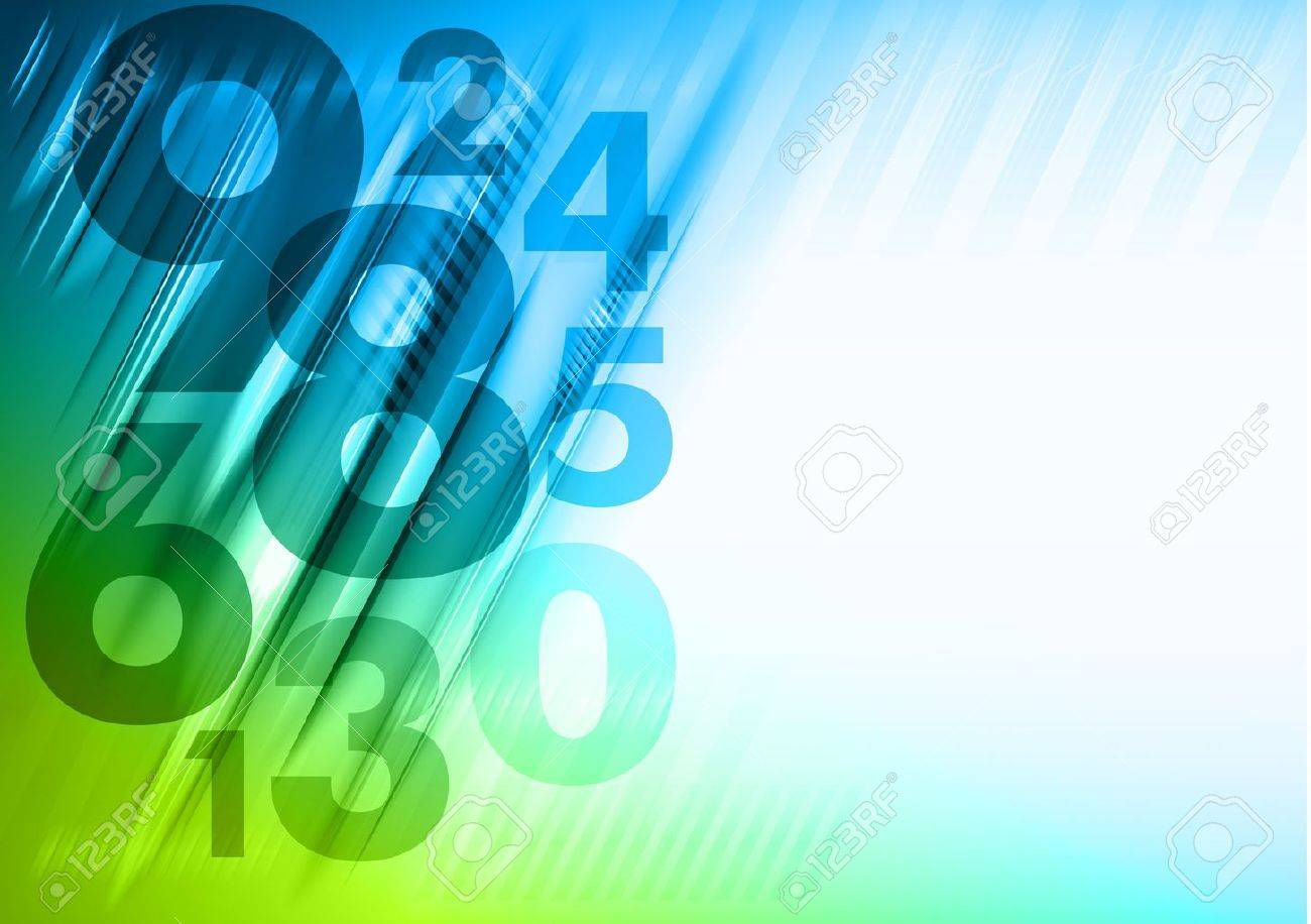 abstract background with blue and green numbers - 19286121