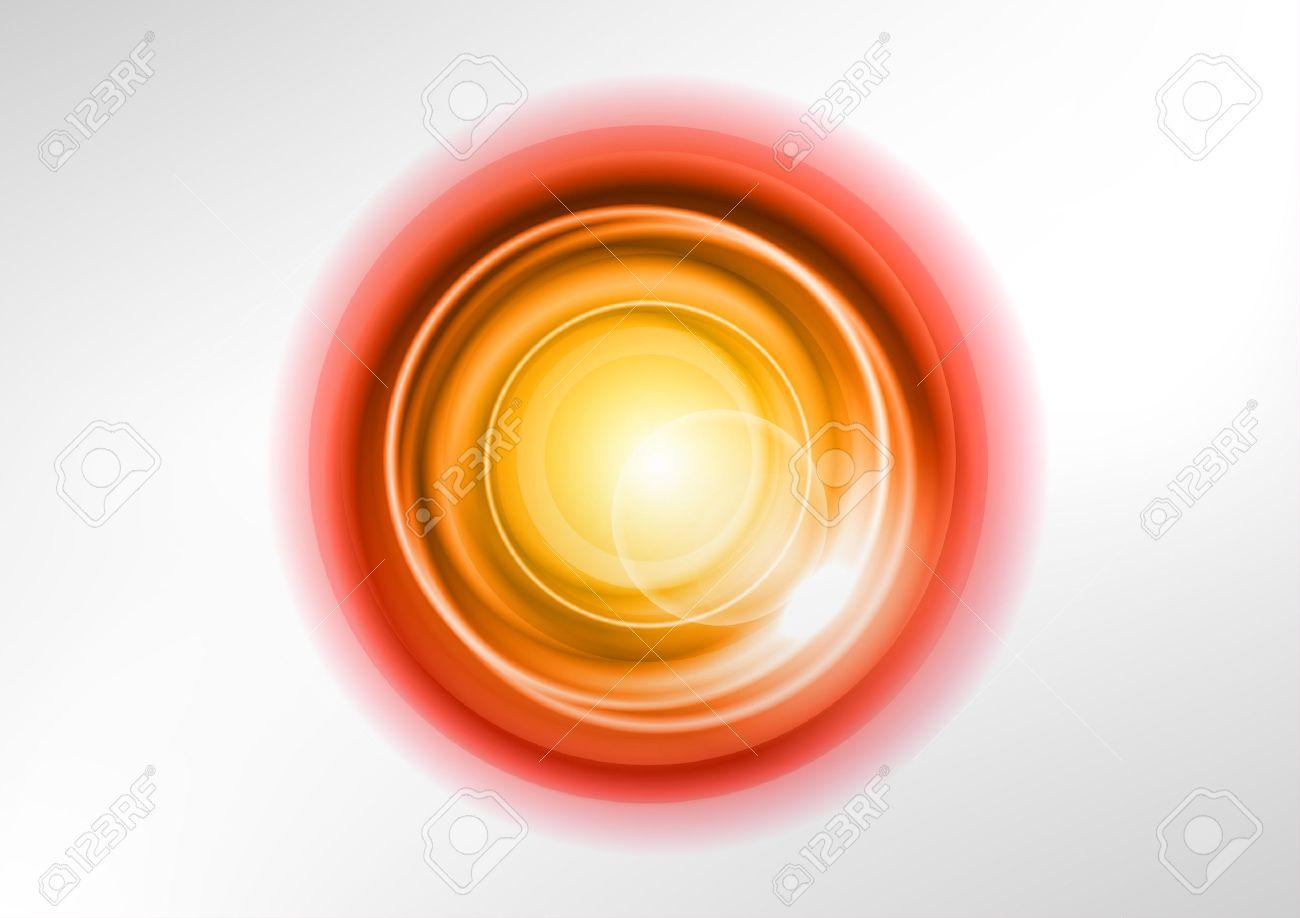 orange abstract circles on the white - 19286125