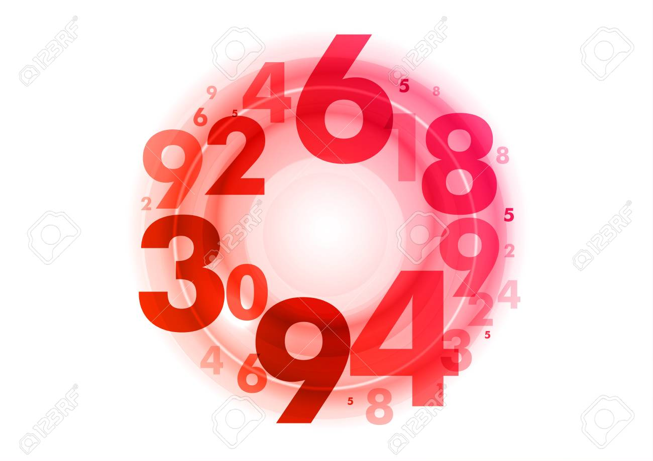 abstract background with red numbers Stock Vector - 19983831
