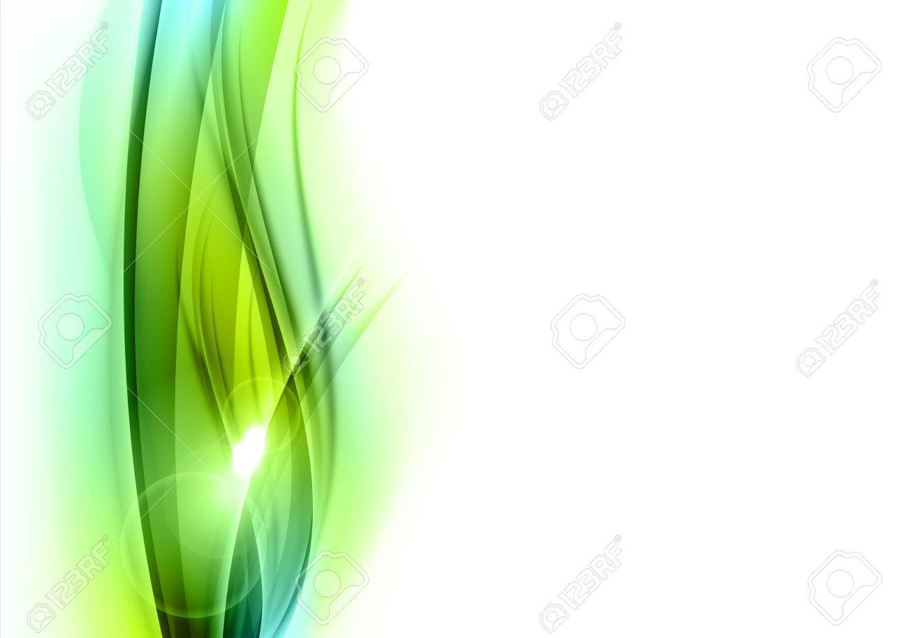 green abstract shape on the white - 20617368