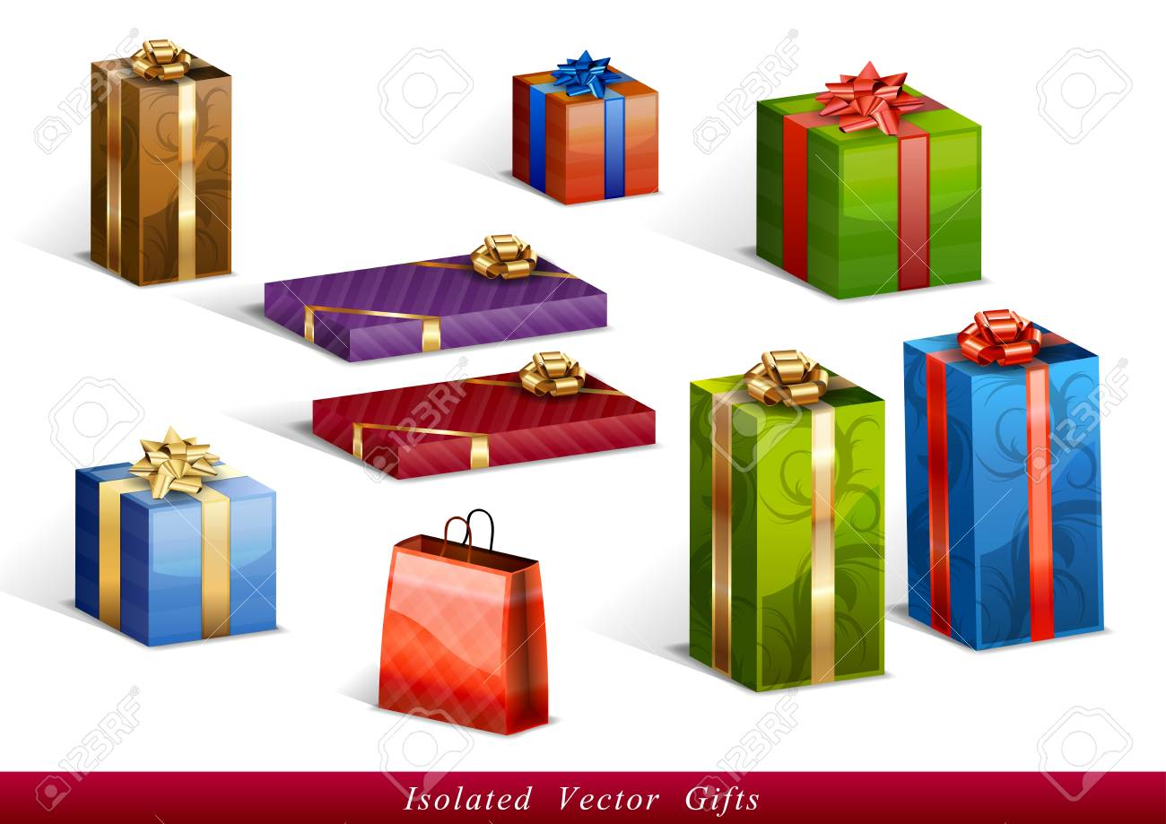 set of vector isolated gifts - 21496216