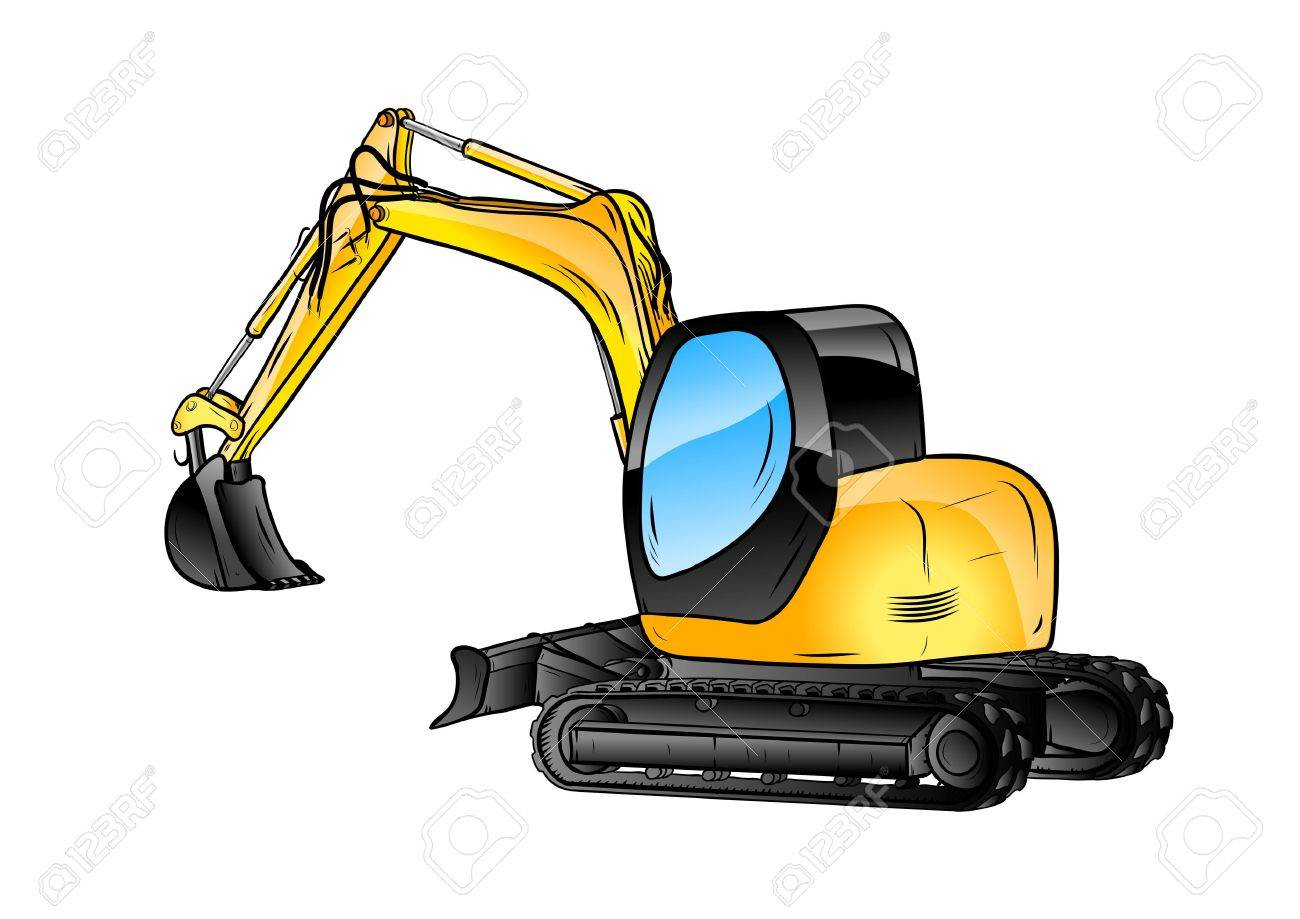 excavator isolated on the white background - 21787321