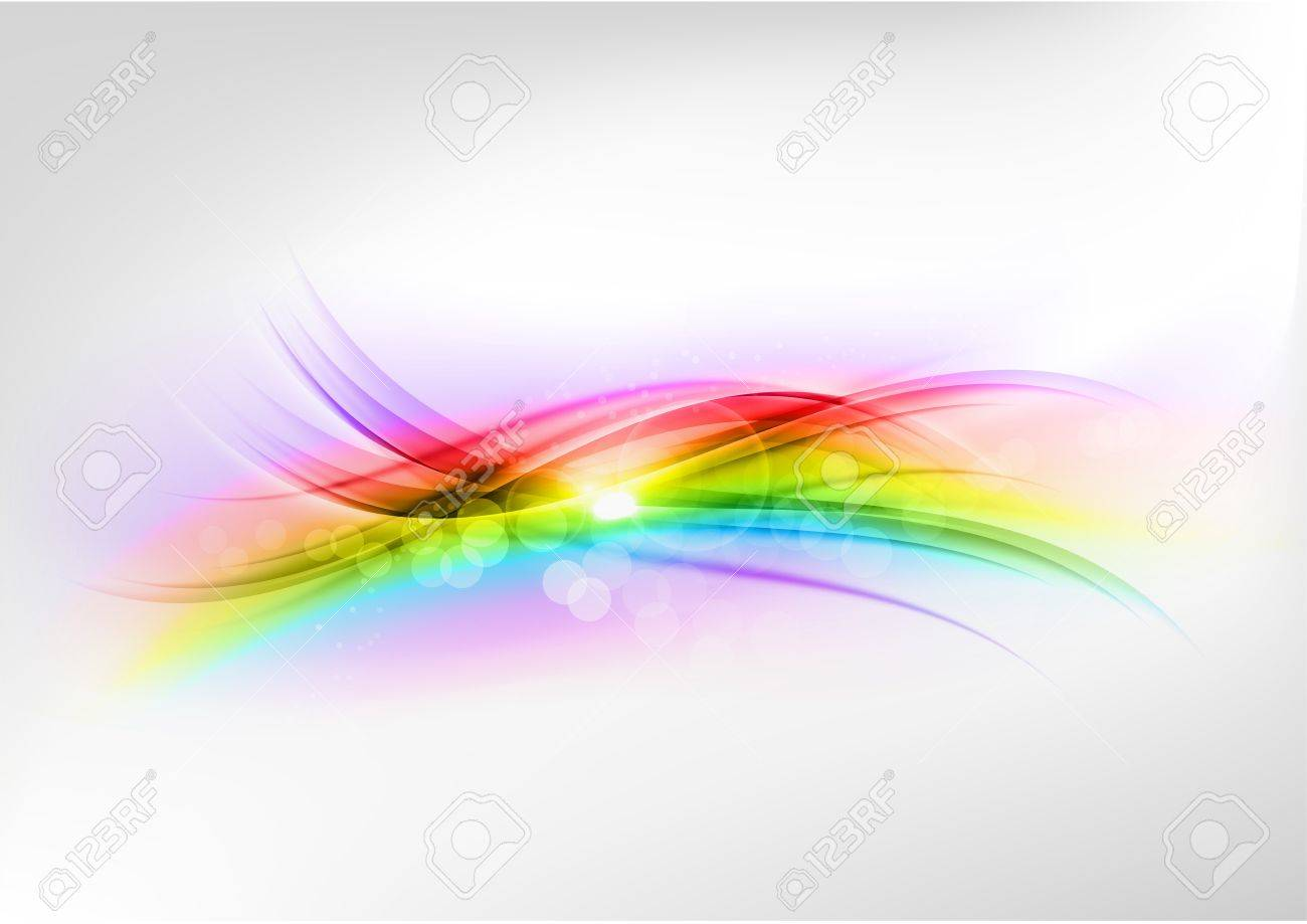 abstract rainbow shape on the white background - 21788586