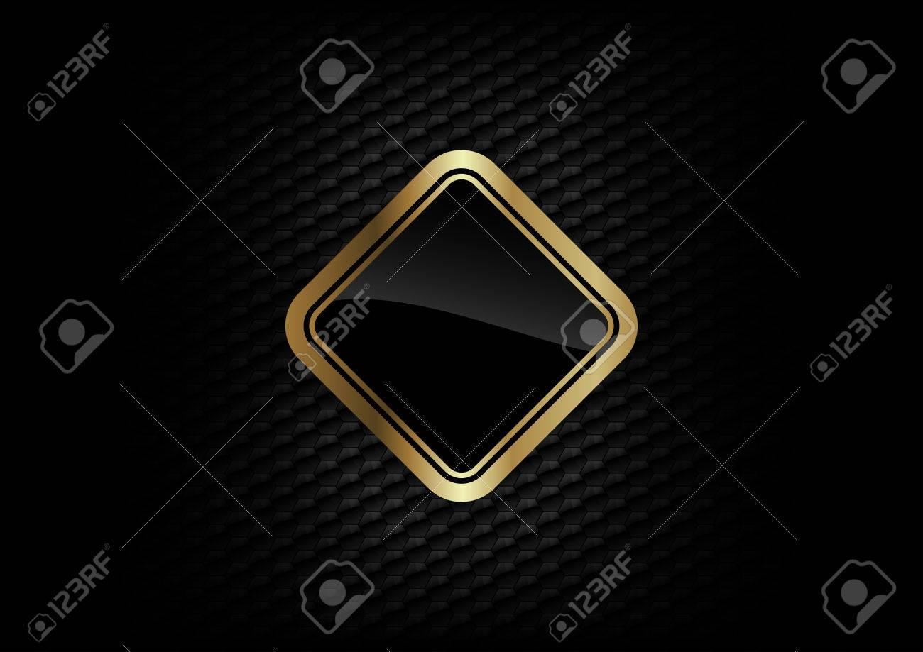 gold frame on the dark background - 22206946