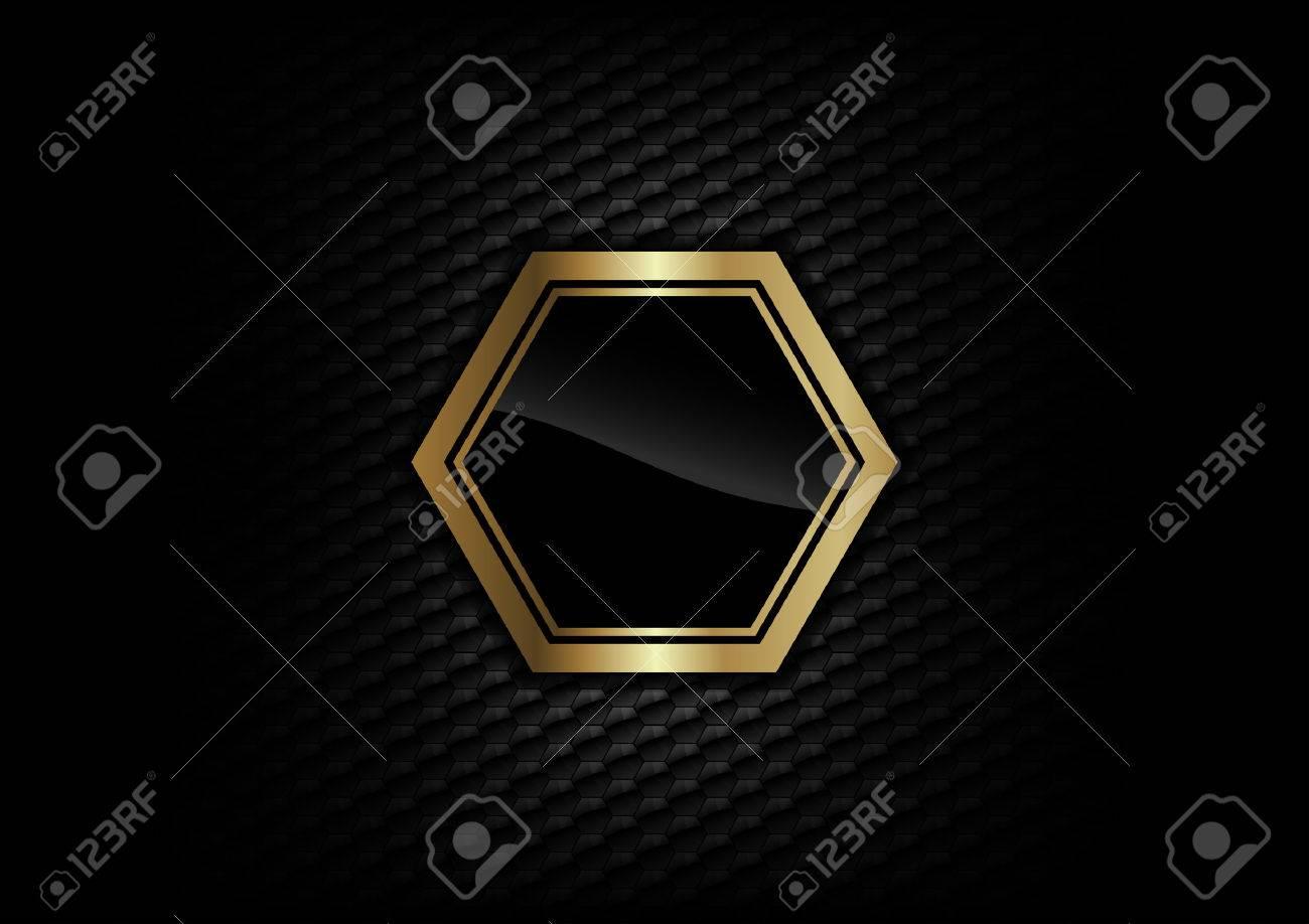 gold frame on the dark background - 22495677