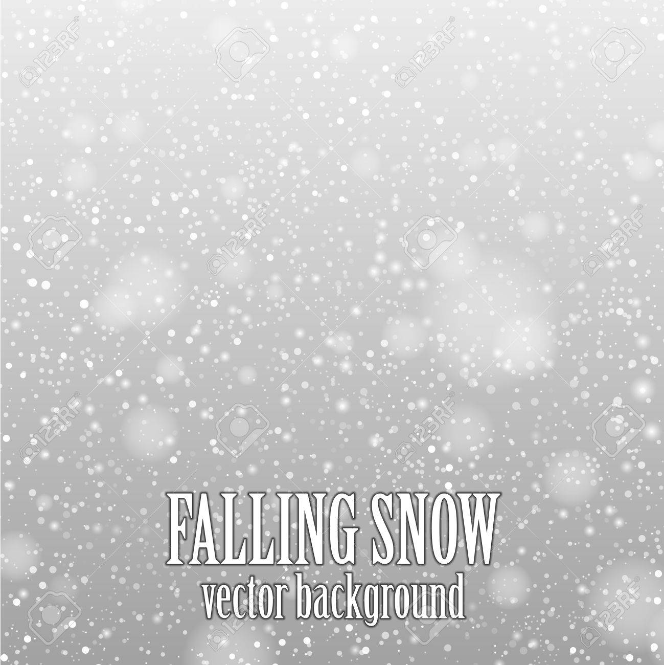 falling snow on the gray - vector image - 23013775