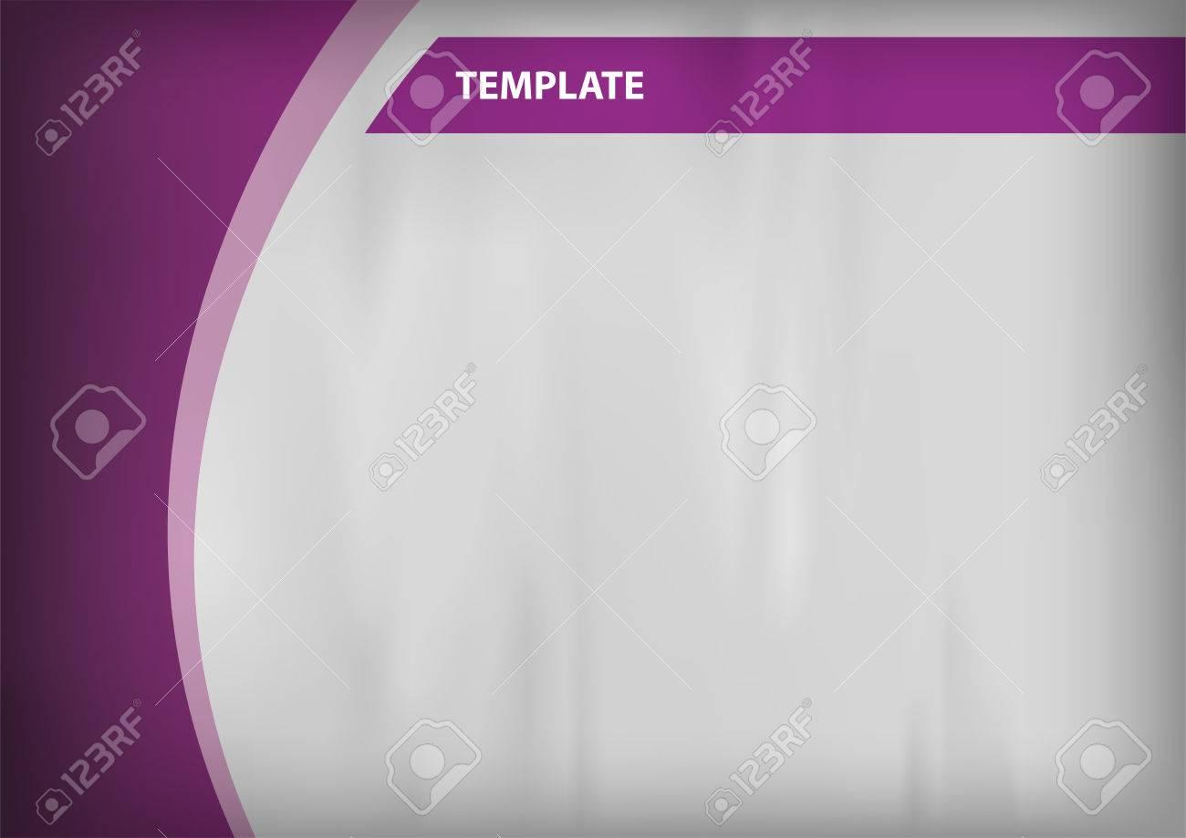 Plantilla Vacía - Fondo Gris Con Los Objetos De Color Púrpura ...
