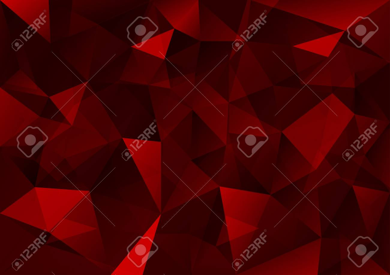 Triangles background. Red vector abstract pattern. - 29312009