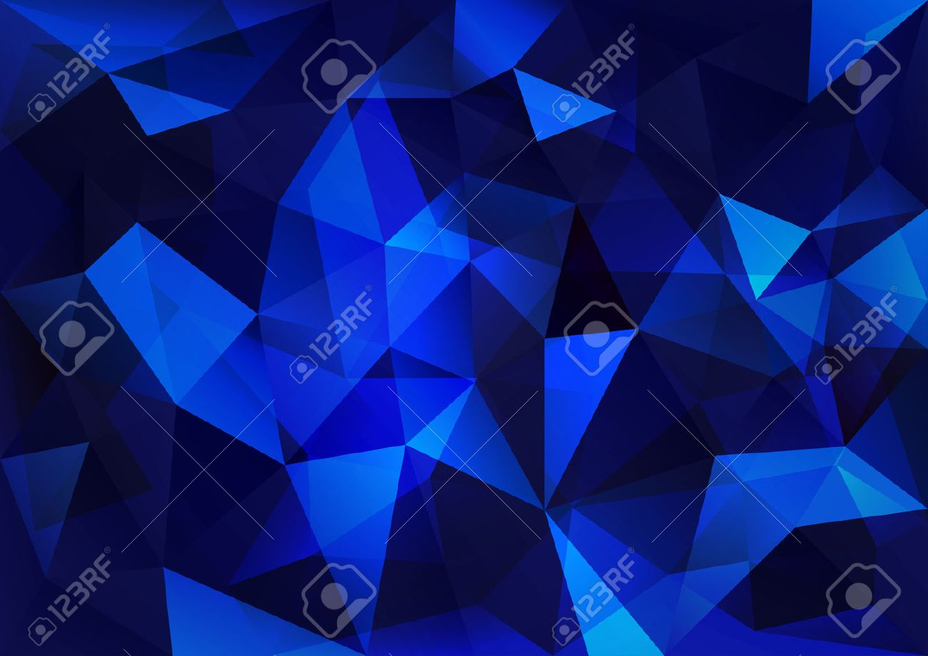Triangles background. Blue vector abstract pattern. - 29312026