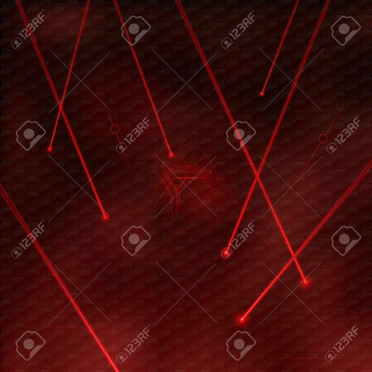 Red lasers as abstract background. Vector texture of shining beams. - 30798809