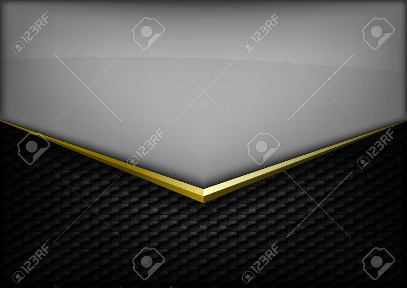 Modern elegant layout. Gold arrow between gray and black spaces. Version without sample text. You can find version with sample text in my gallery. - 36947875