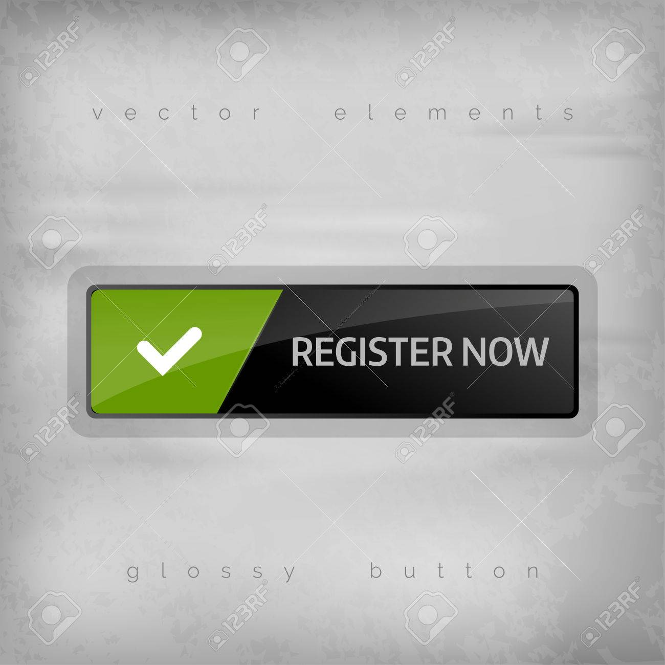 Simple button REGISTER NOW with color space for icons - 39499015