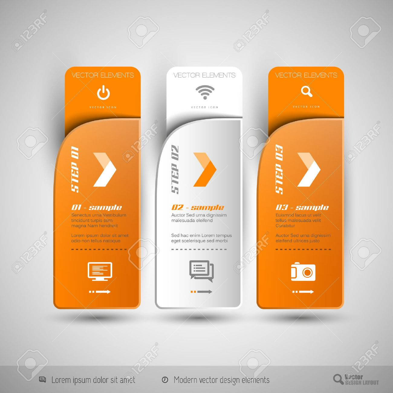 Modern design elements for infographics, print layout, web pages. - 42658666