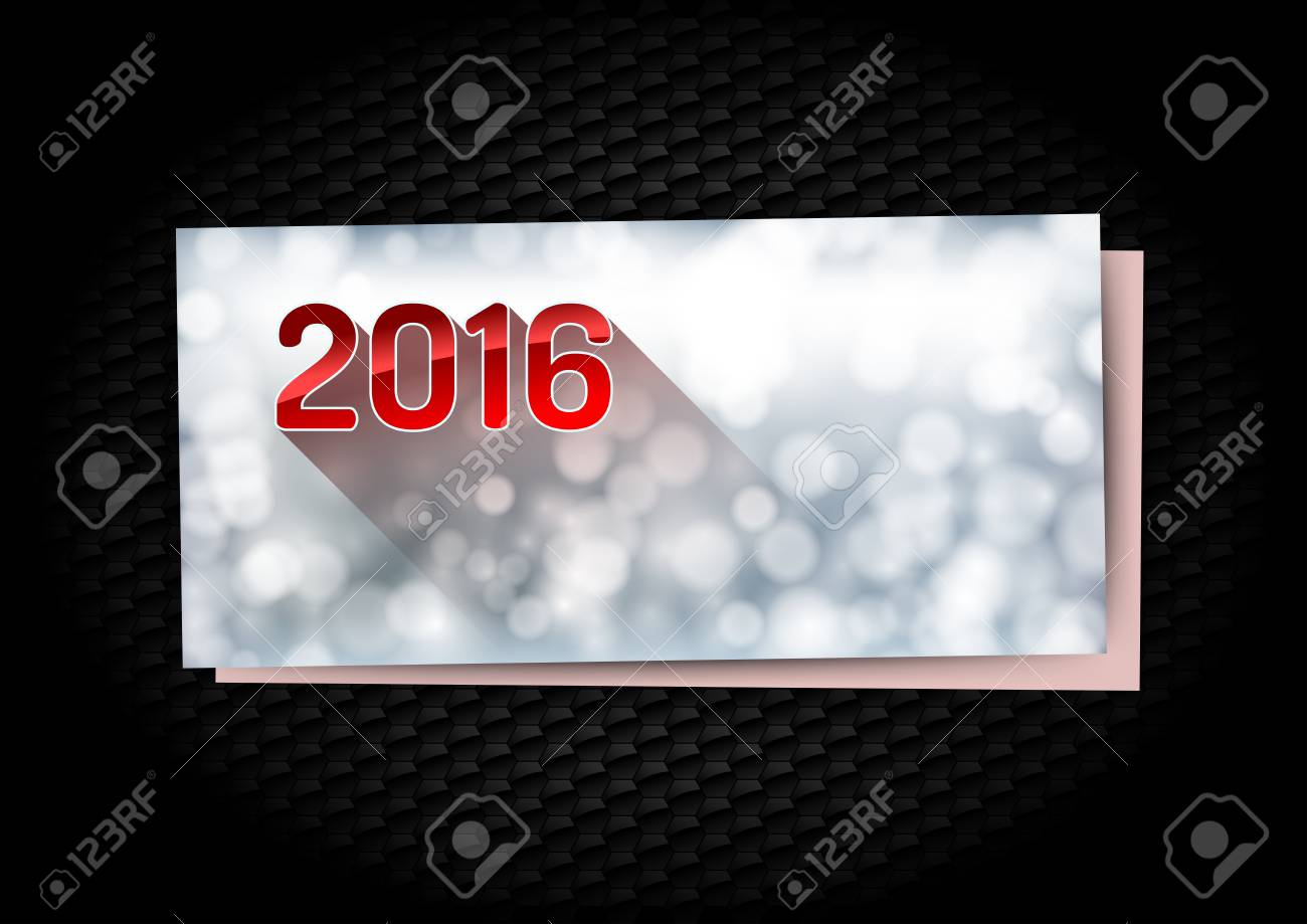 New Year Greetings Card On The Black Background Royalty Free
