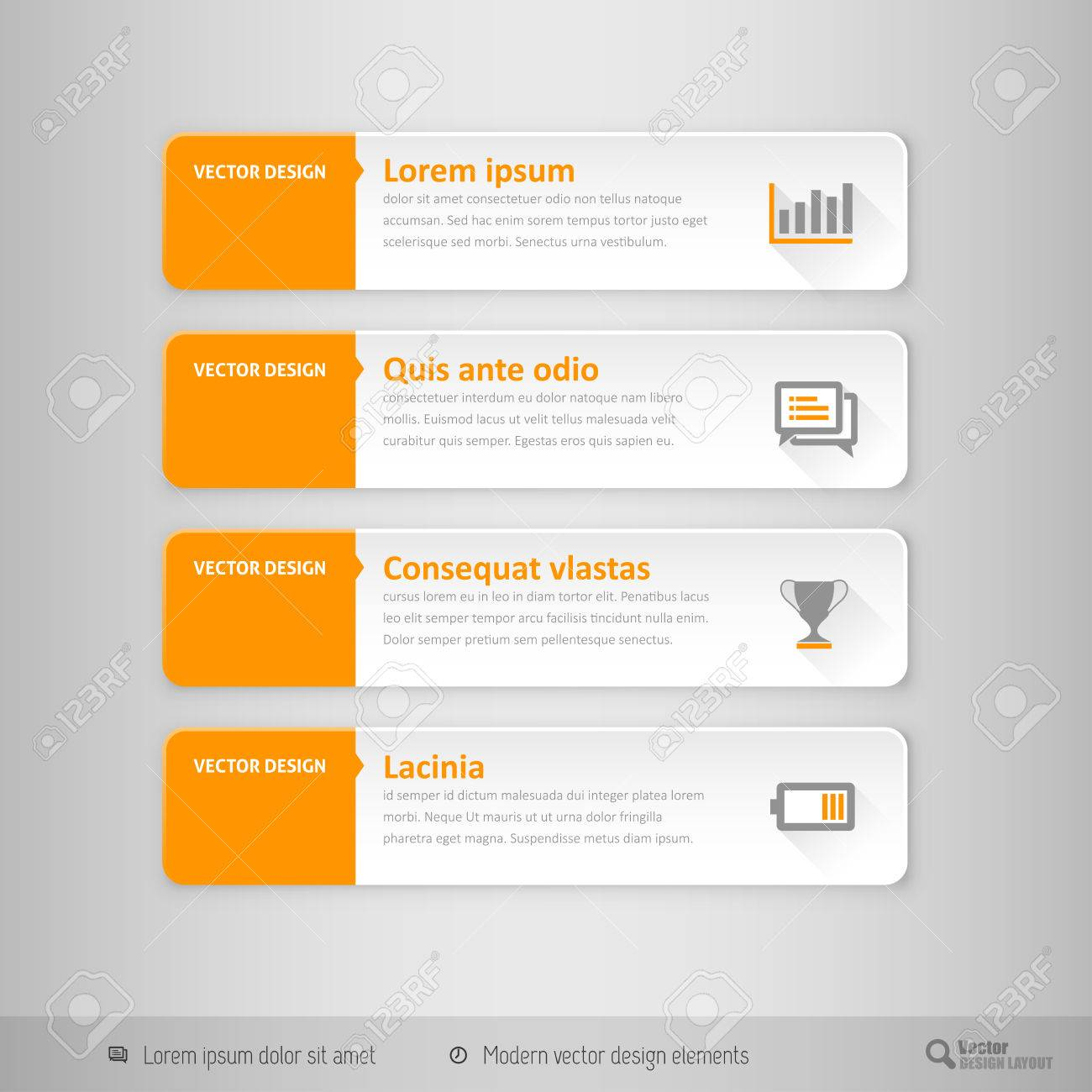 Design Elements For Infographics, Layout, Web Pages. Modern Symbols ...