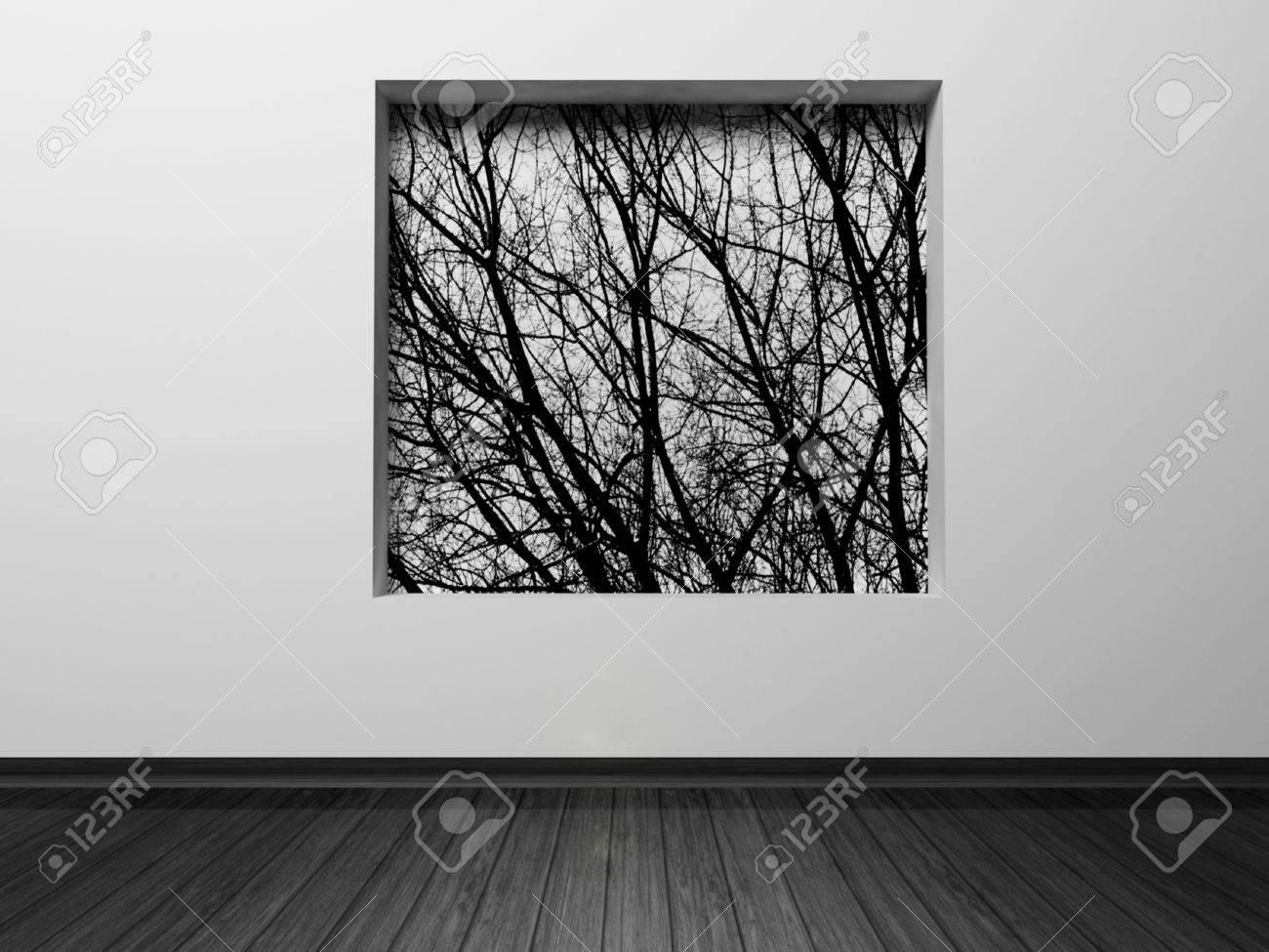 Interior design scene with a niche in the wall Stock Photo - 12867983