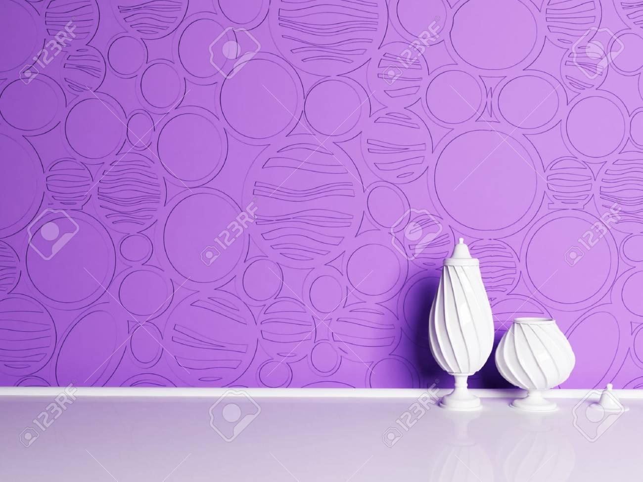 Interior design scene with the vases Stock Photo - 12868051