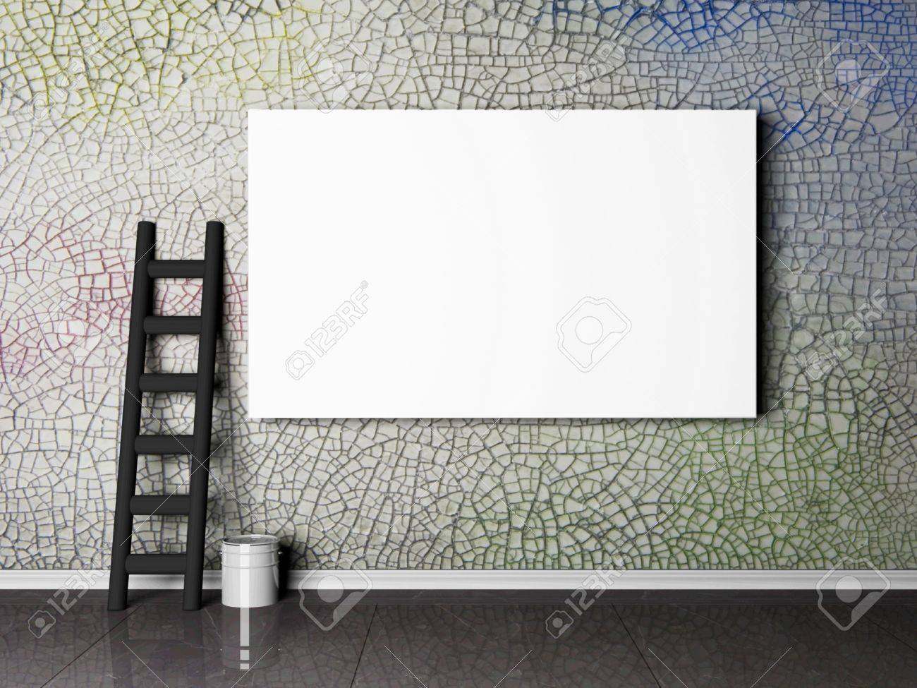 blank advertising billboard on a grunge wall, similar photos are in my portfolio Stock Photo - 12867388