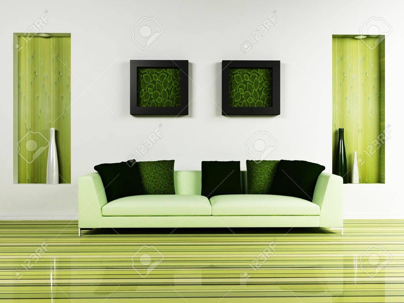 interior design moderno di soggiorno con un bel divano e un ... - Arredamento Moderno Design