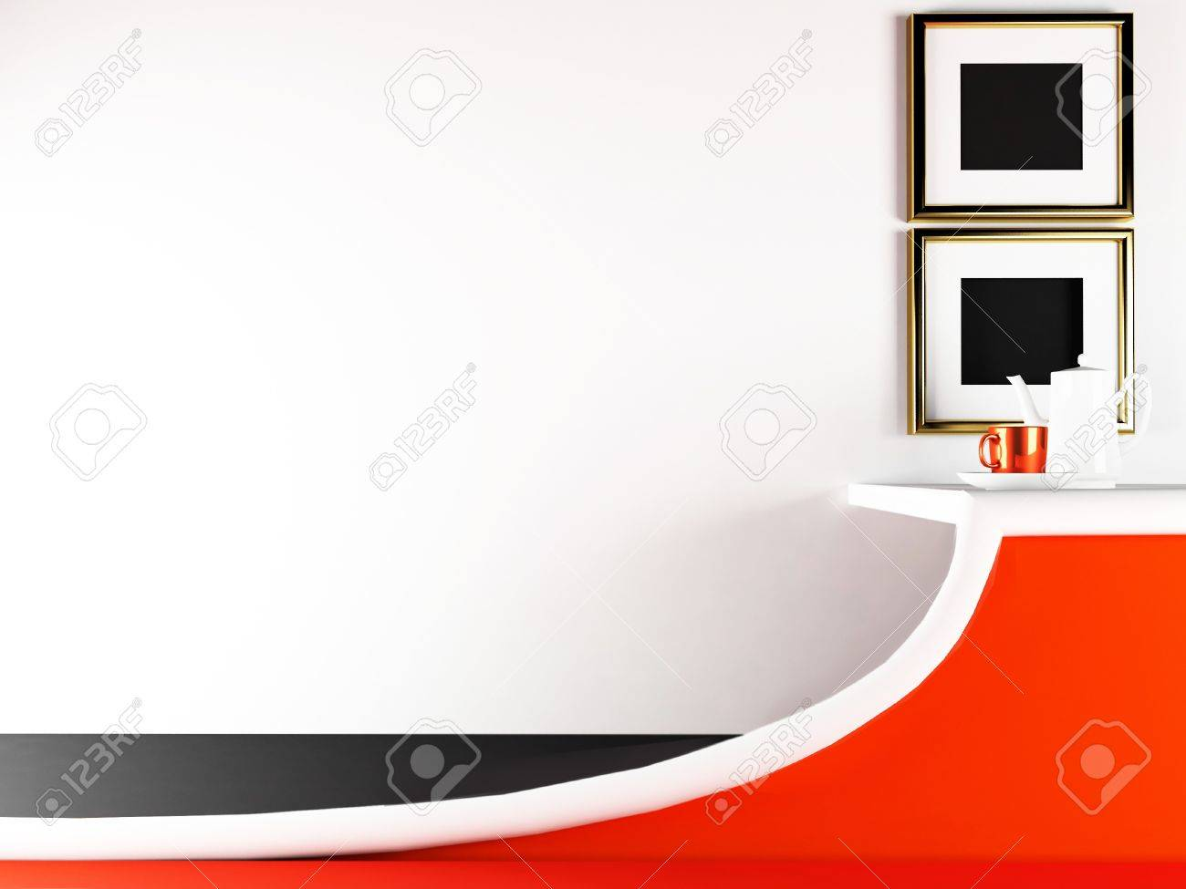 creative table in the cafe, rendering Stock Photo - 13550803