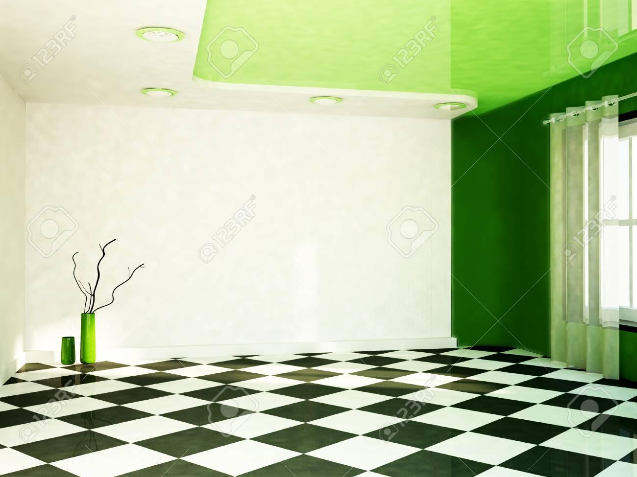 interior design scene with a window, the vases Stock Photo - 16709160