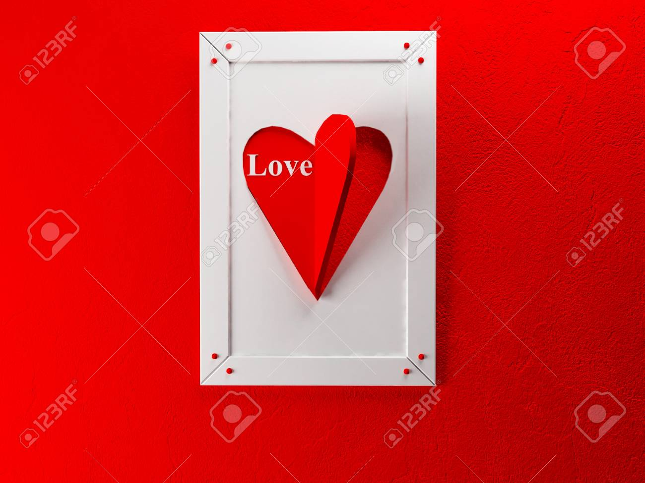 creatine picture on the wall for St. Valentine's Day Stock Photo - 17358444