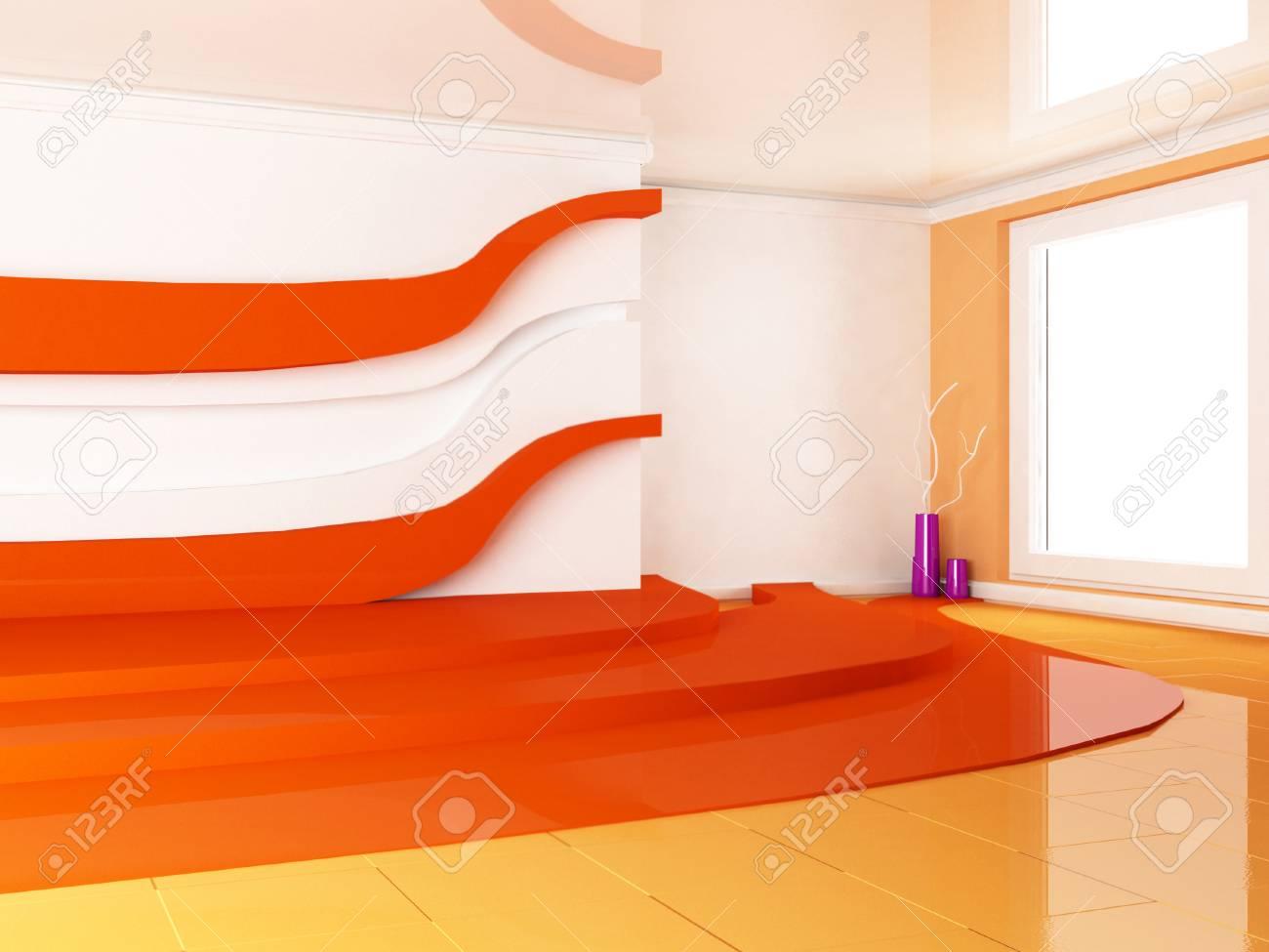 interior design scene with a window, the vases, Stock Photo - 22268960