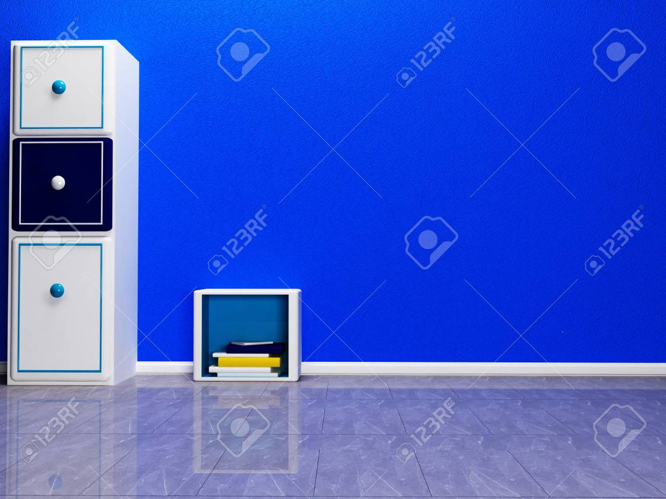 Empty Room With Two Cabinetes Stock Photo   23074524