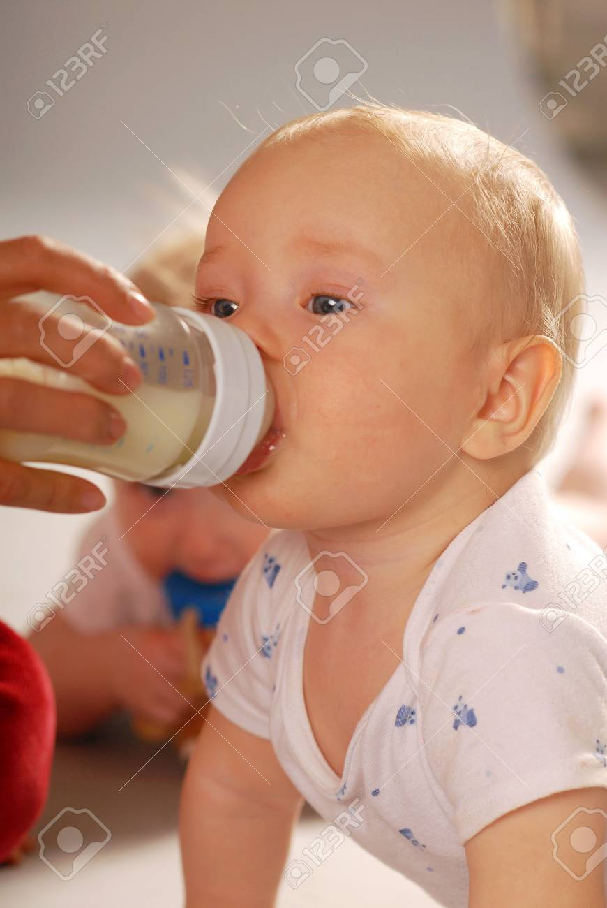 Baby during the drinking of milk Stock Photo - 3382395