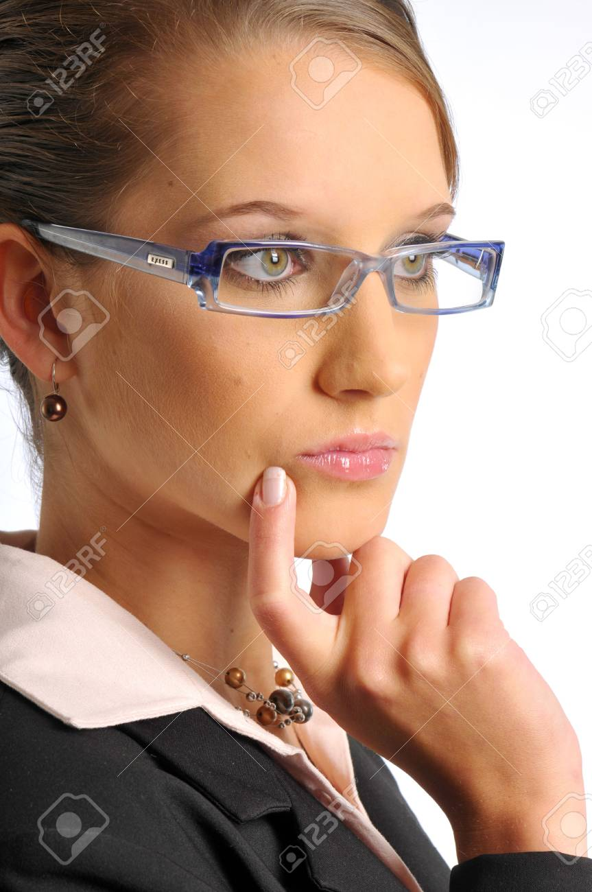 The business woman in dark formal clothes Stock Photo - 6362282