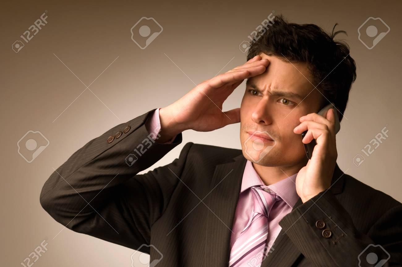 Businessman having call Stock Photo - 8342267