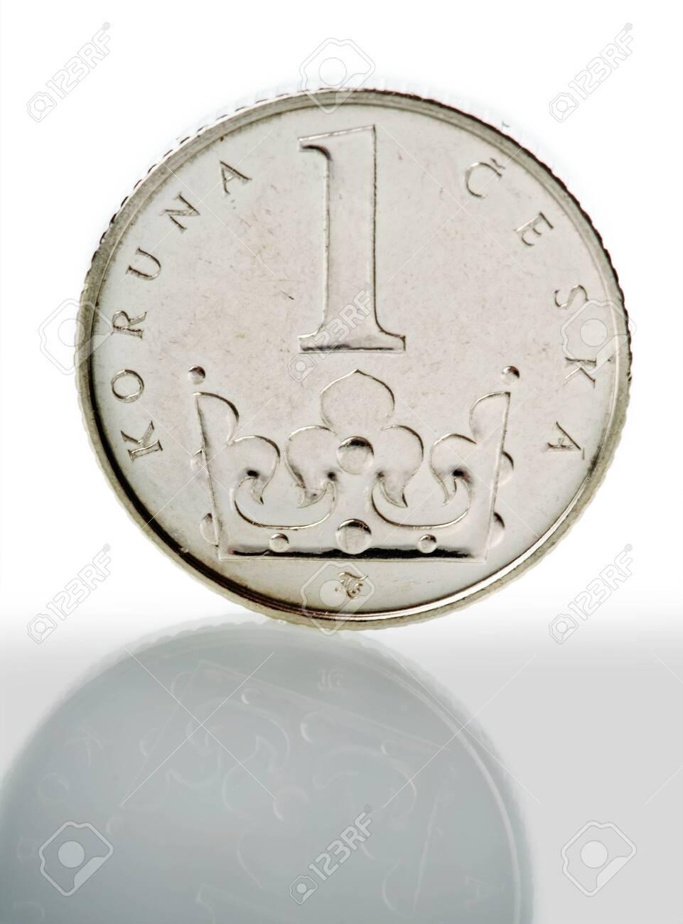 coins of czech currency - Czech Koruna - europe money - 143423681