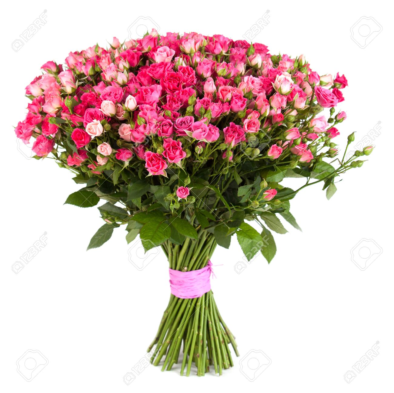 Big flower bouquet from pink roses isolated on white background big flower bouquet from pink roses isolated on white background closeup stock photo dhlflorist Gallery