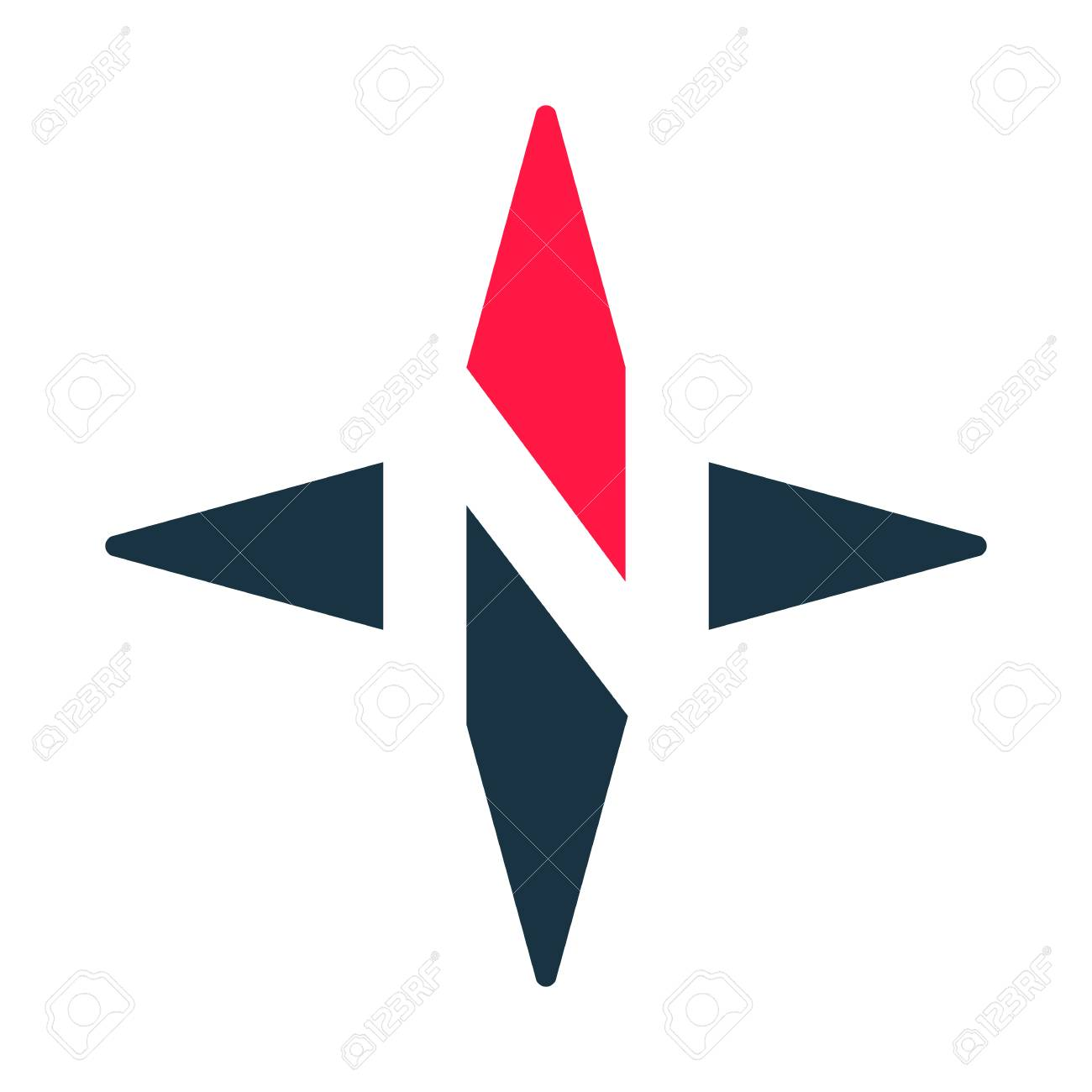 compass arrow vector icon n logotype north west east south