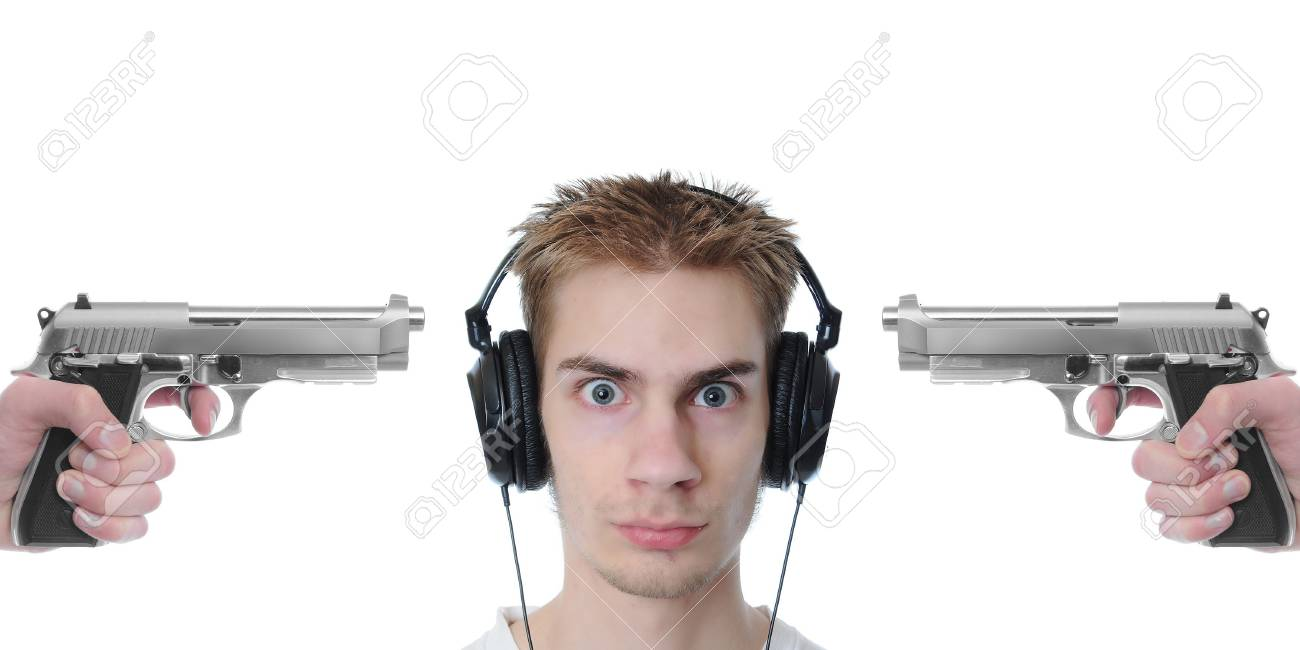 Some claim that popular music contains explicit lyrics that may not be appropriate for children and even today's youth culture. This image demonstrates this concept. Stock Photo - 6429371