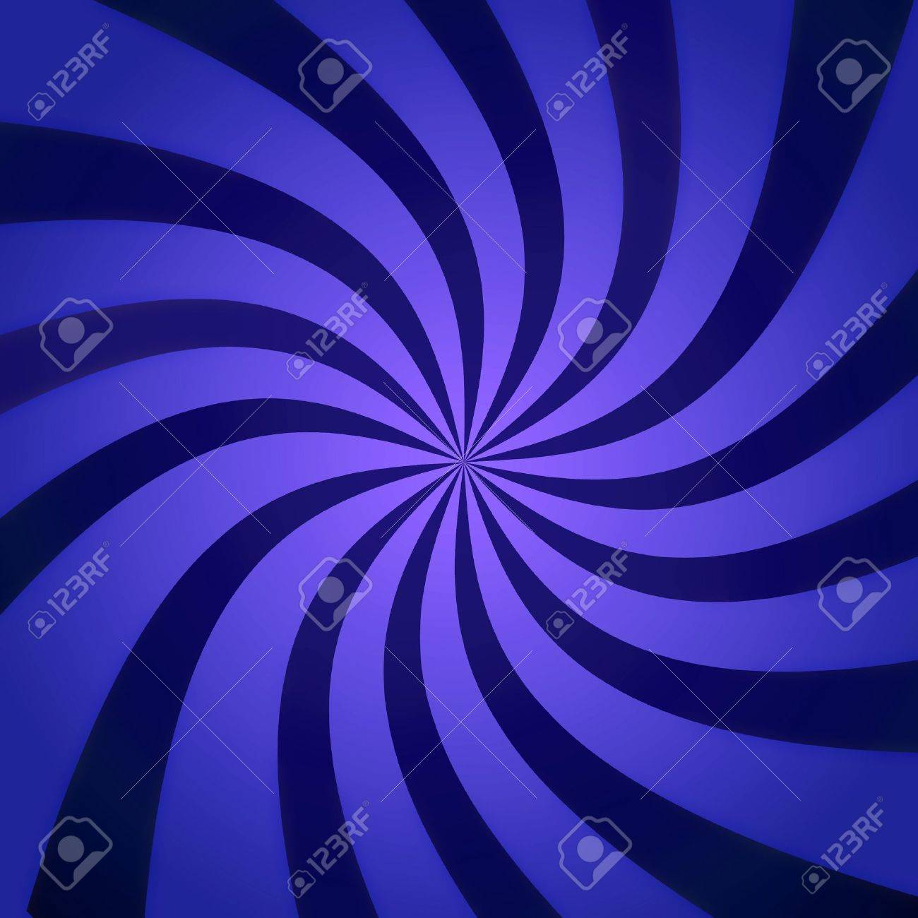 Funky abstract purple background illustration of twisty stripes with a radial gradient. Stock Illustration - 7036634