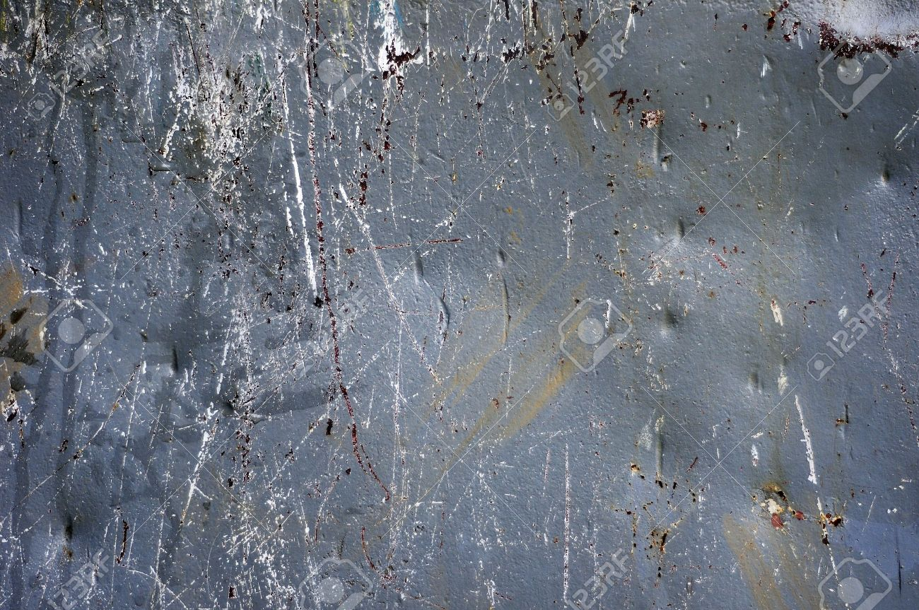 A gray metal surface that has been dented and scratched Stock Photo - 7216307