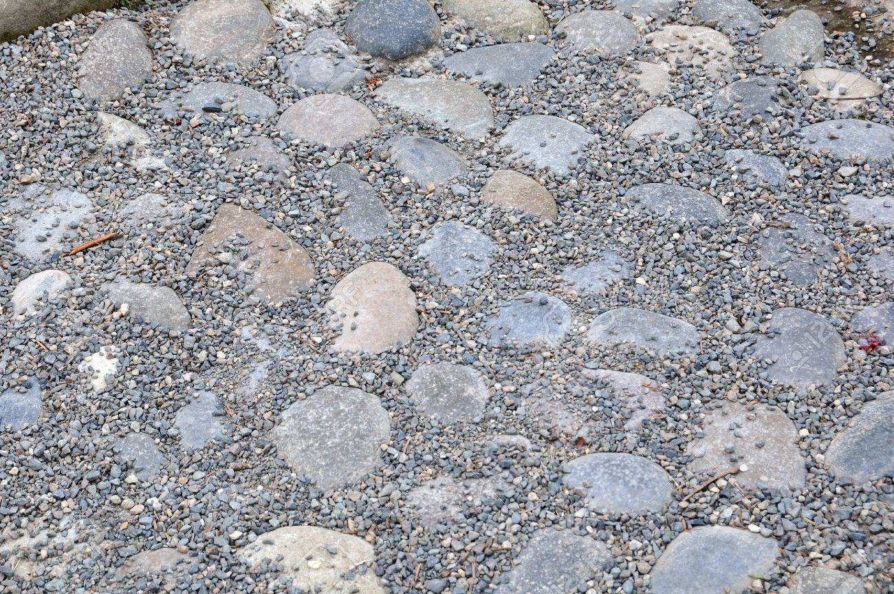 Stone walkway in garden royalty free stock photo image 34535795 - Several Rocks And Small Pebbles Make A Nice Stone Walkway Stock