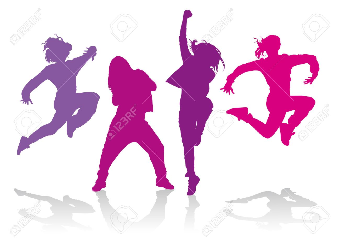 Detailed silhouettes of girls dancing hip hop dance detailed silhouettes of girls dancing hip hop dance 31554017 voltagebd Choice Image