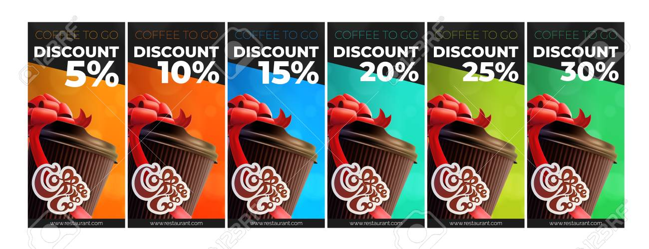 Coffee To Go Printable Free Coffee Discount Vouchers. 6 Colors - 100873236