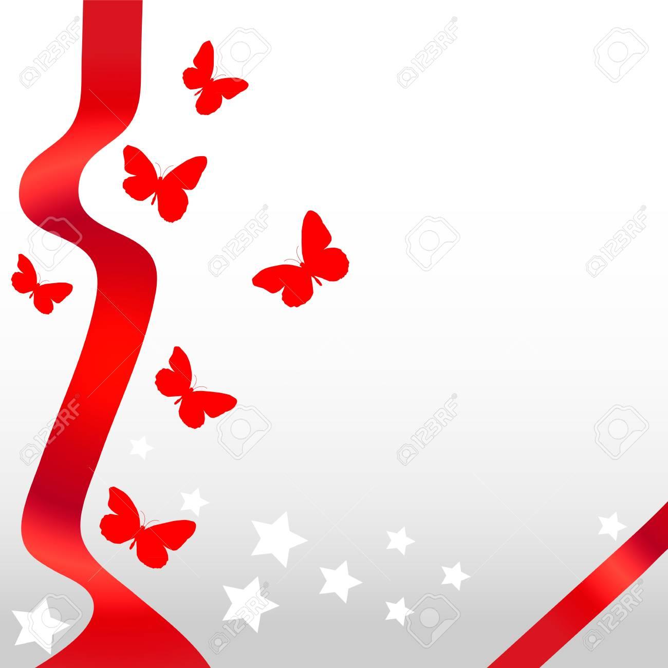 Postcard with butterflies Stock Vector - 15206996