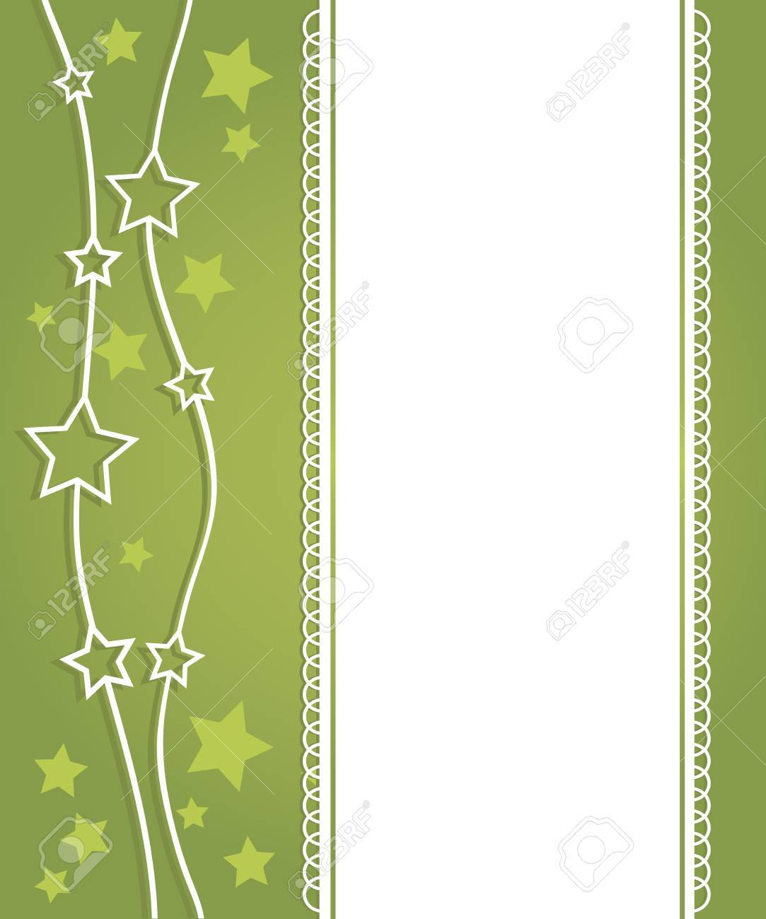 Abstract green background with the stars Stock Vector - 15415269