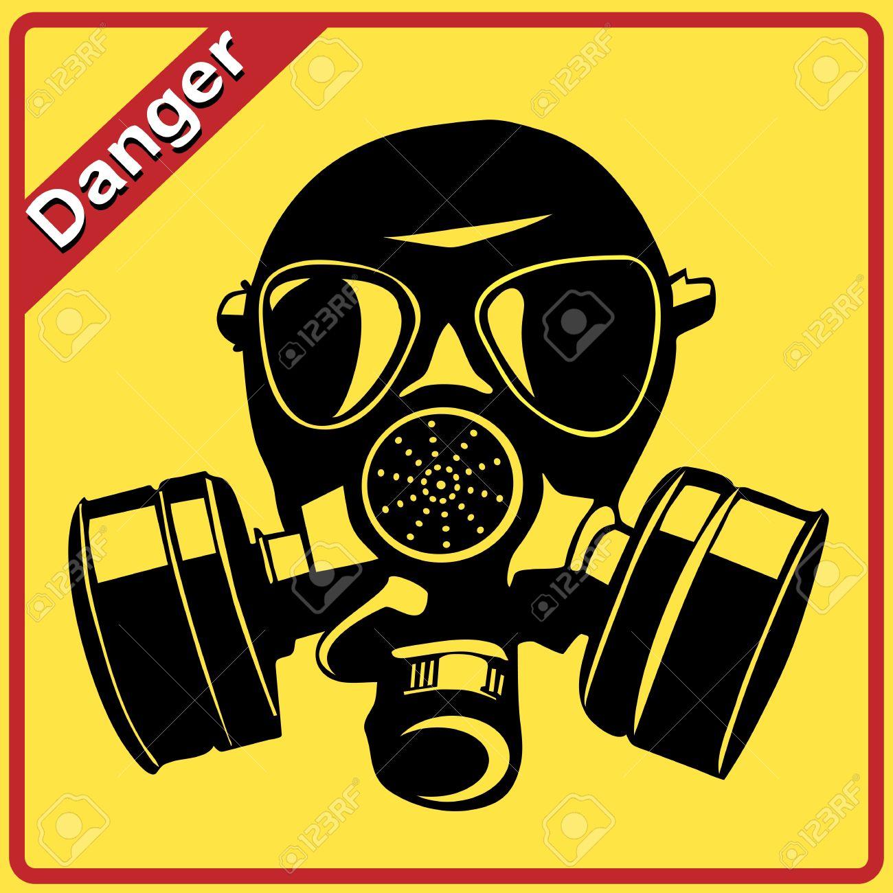 Gas Mask Signs Gas Mask Danger Sign War
