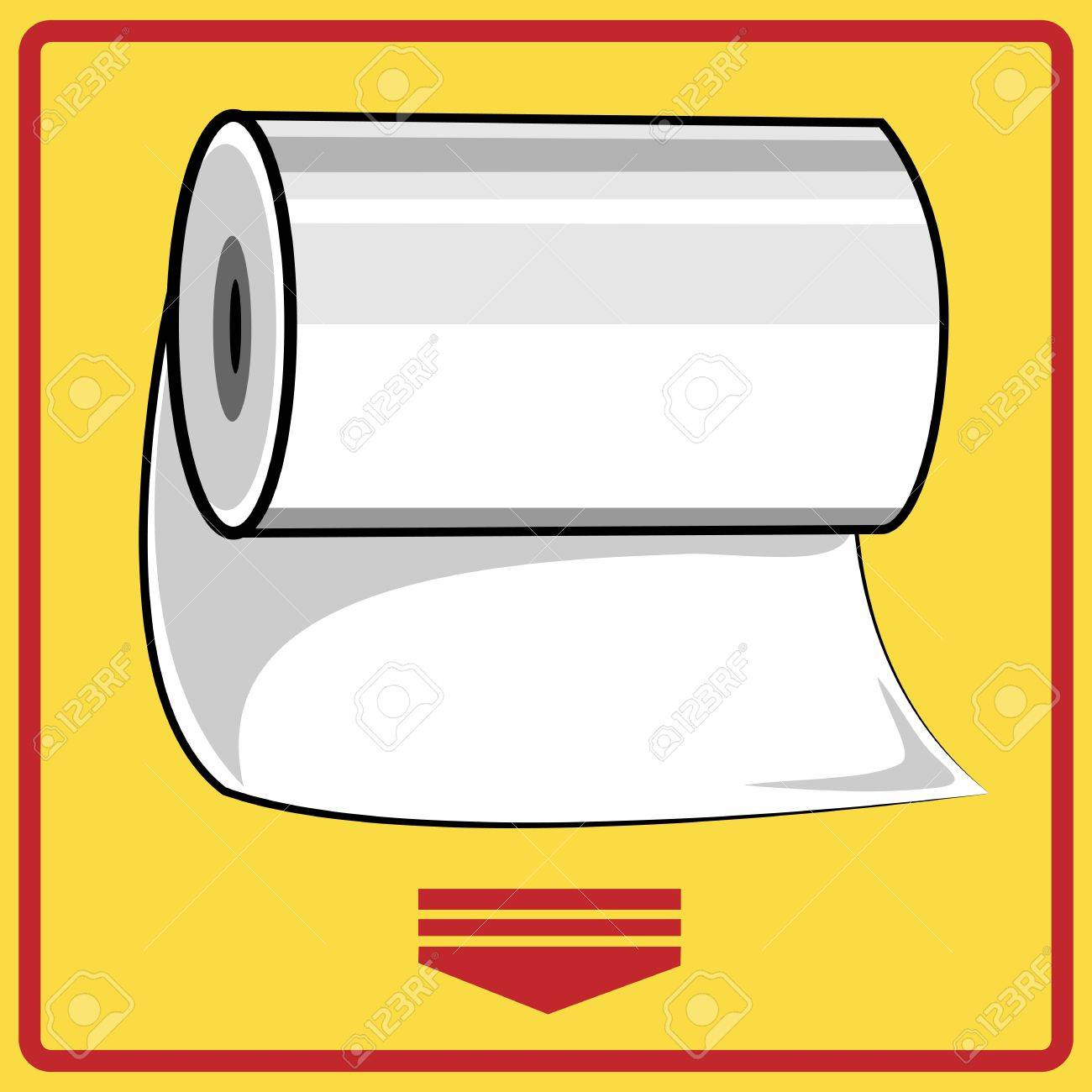 Hand paper towels roll Stock Vector - 15935578